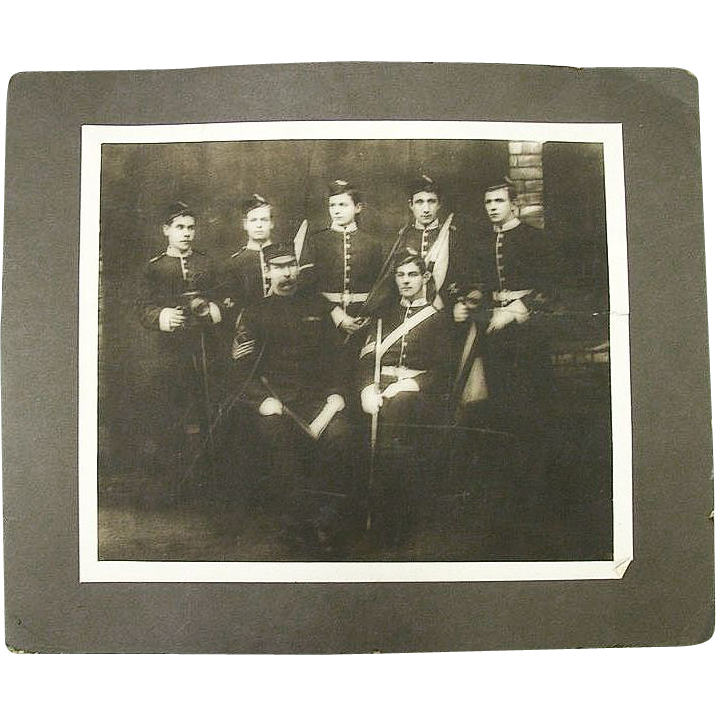 "Rare Identified ""Signal Corp."" Photo Group of the 4th Volunteer Battalion Manchester Regiment  Backmarked 1889 !"
