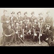 G.A.R POST # 385 Honor Guard from Williamsport,Pa. Civil War Veterans Group Photo Circa 1880.