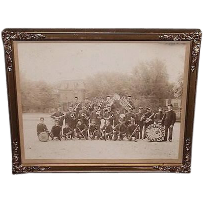 Historic Schaefferstown,Pa. Band Group Photo in the Town Square Ca. 1911 to 1915 !!!