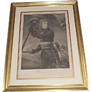 "Authentic 1796 Engraved Print of ""Napoleon Bonaparte on the Arcole Bridge Nov.17,1796"" by Master Engraver Joseph (Giuseppe) Longhi !!!"
