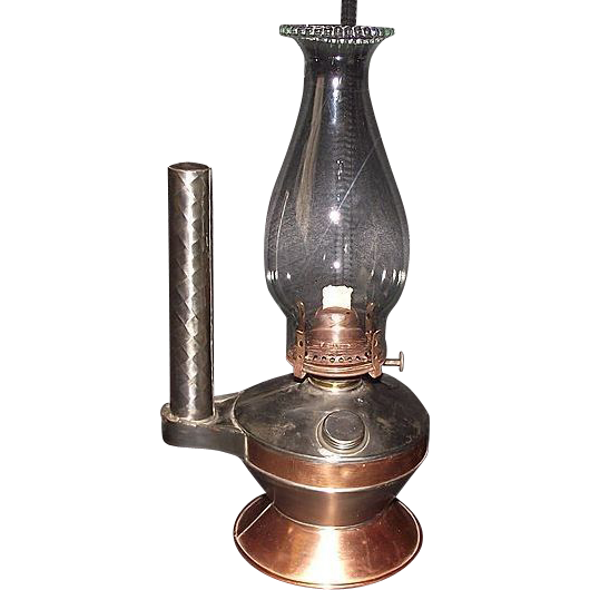 Coppersmith / Tinsmith Made Combination Hand Lamp Show Piece !