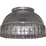 Halophane Type Reflective Shade with Scalloped Edge & Standard  3 3/8 inch Base Fitter for electric Light Bulb Socket Shade Holder !