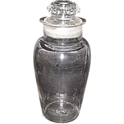 "Urn Shaped ""Apothecary Show Jar""  2 part Blown Molded with a Molded Lid !  Ca. 1880"