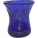 Whimsical Blown Cobalt Blue Miniature Glass Vase !