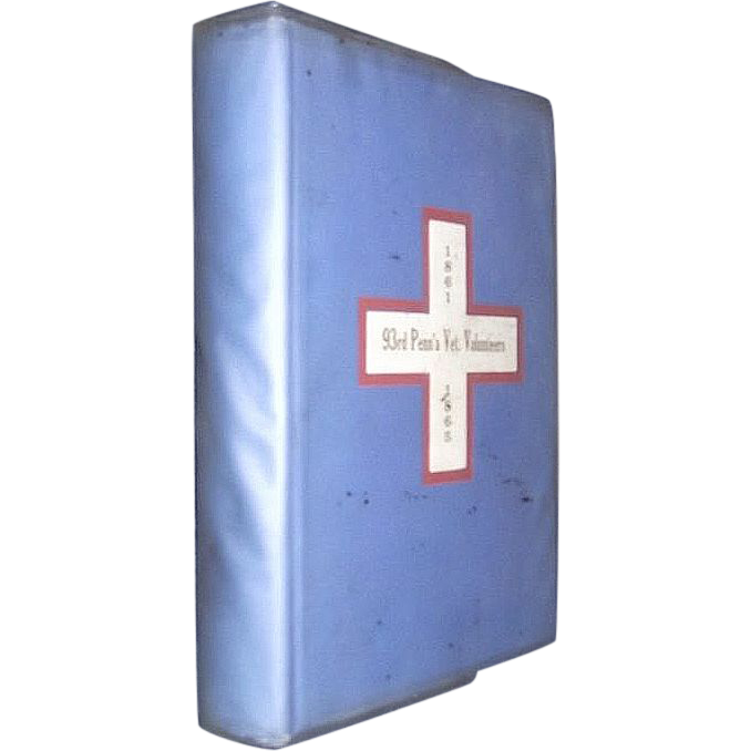 "Rare Original First Edition Hard Cover  93rd Pa. Regimental History titled ""Red,White & Blue Badge""  By Penrose Marks !!!"