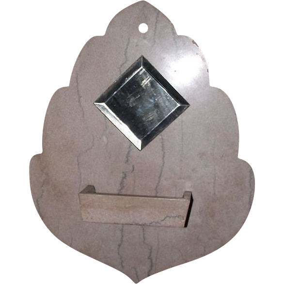 Wall Mounted Quot Comb Case Amp Mirror Quot In Actual Cut Marble