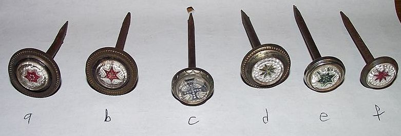 Choice of Sulphide Picture Hanger Nails  Per Piece !!!  Circa 1880.