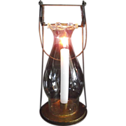 "1894 ""Fred Fear"" Candle Lantern Patented in 1894 with Fancy Pie Top Chimney."