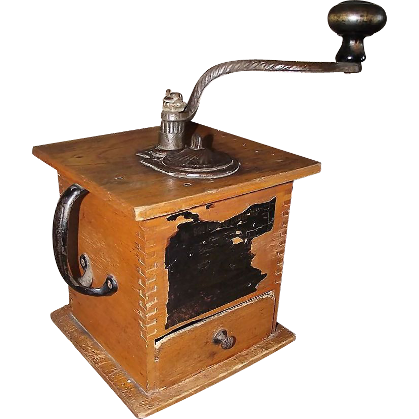 Imperial No.999 Coffee Mill, with Left Side Handle & Top Crank   ! Ca. 1894.