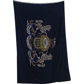 GIANT  Pennsylvania State Flag Hand Colored in a Large Garrison Size 9 X 14.5  Feet !!!