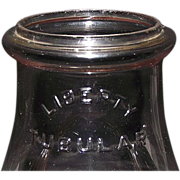 "Original ""LIBERTY TUBULAR"" Lantern Globe with an aged Sun Purple Tint !!! Circa 1915."