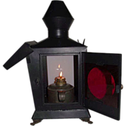 "Deluxe Civil War Period ""Darkroom Lantern"" with Negative Re-Touch & Inspection Glass !!!"