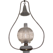 Complete Ives Brass Harp Oil Lamp, Great for Hanging over the Boss's Desk !!!  Circa 1880.