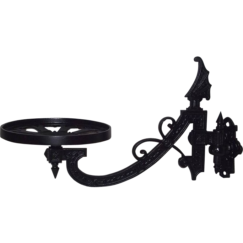 "Apothecary Cast Iron ""Show Jar Wall Bracket""  Ca. 1890."