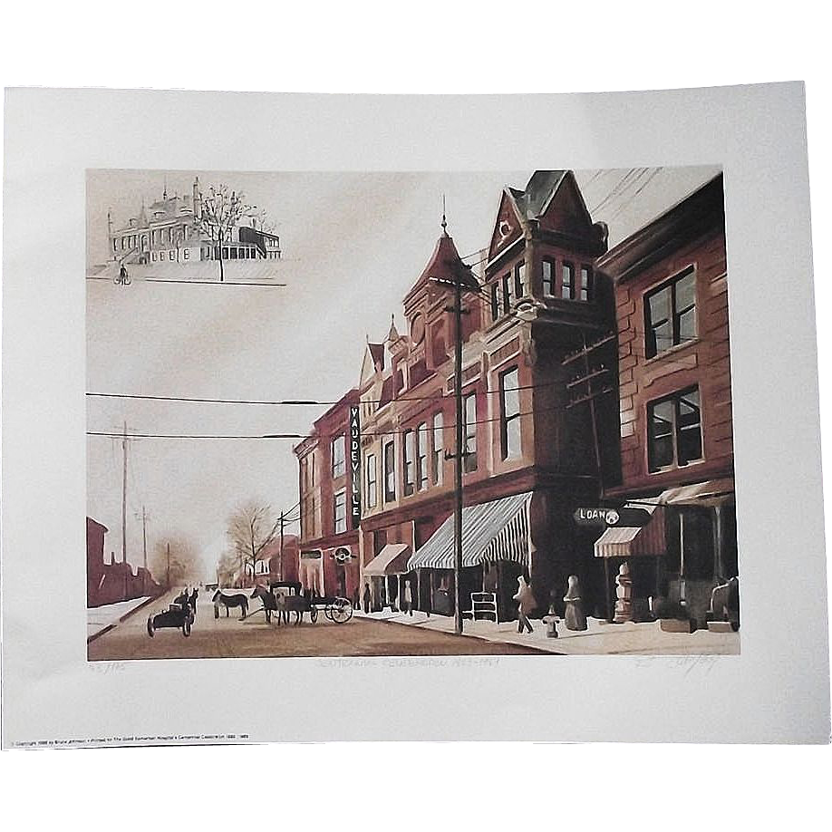 "Artist  Signed ""Bruce Johnson"" Limited Edition Print  Numbered 43/145 Print. Ca. 1988."