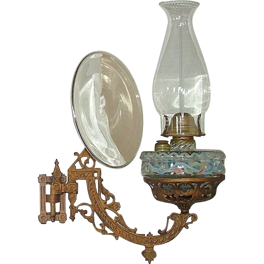 Wall Bracket Oil Lamp Complete With Reflector Quot Patent