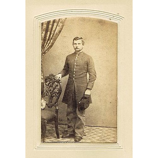 CDV Group of 4 Photos of an Unidentified Civil War Soldier & 3 Family Members with photographer Backmarks from Hackettstown,NJ.