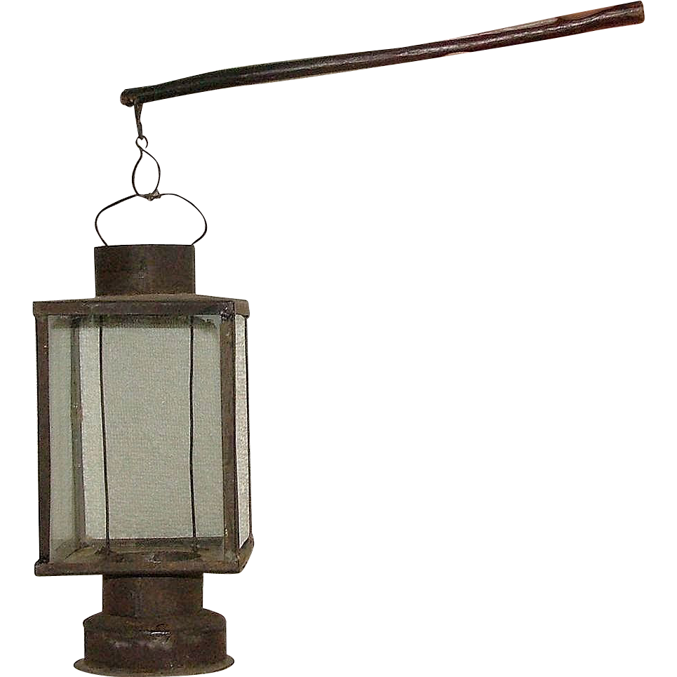 "Rare ""Child Size Whale Oil Parade Lantern"" with Pewter Drop-in Burner !!! Ca. 1880."