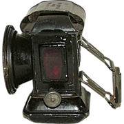 "Marked ""Argonaut"" Bicycle Lantern Headlight with Original Black Paint !!! Ca. 1910"