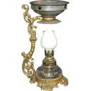 Complete Cresolene Miniature Oil lamp used as a Medicinal Humidifier !!! Ca. 1900