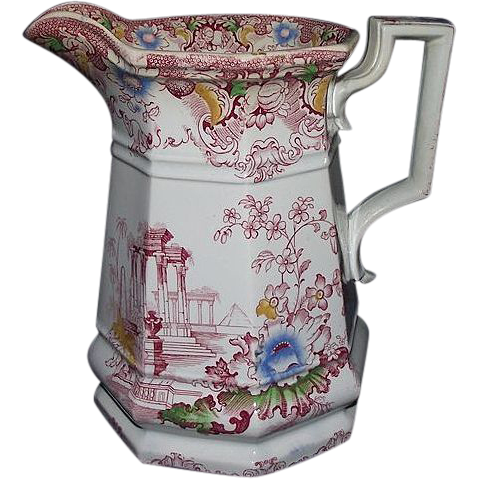 "Near Mint ""Cleopatra"" marked Pitcher with Excellent Color !!!  Circa 1860's."