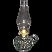 Near Mint Finger Lamp with Zero N.O.S. Burner & Chimney !!!  WW-1 Period Ca. 1915.