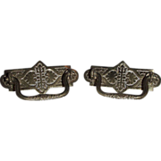 Victorian Design pair of Solid Brass Drawer Pulls !! Ca. 1890