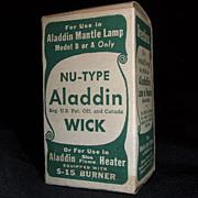 """Aladdin Nu-Type Wick"" N.O.S. in Box  Fits the S-15 Burner !"