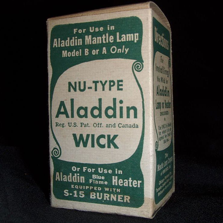 """Aladdin Nu-Type Wick"" N.O.S. in Box  Fits the S-15 Burner !"