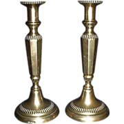 Pair of Large Brass Baroque Candlestick Holders with Stub Removers !