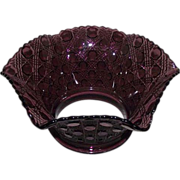 "Rare Amethyst ""Gothic Arches & Jewels"" Slant Shade with a 5 inch Fitter Circa 1890 !!!"