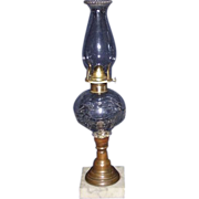"Rare ""Shield, Star, & Feather"" Pattern Oil Lamp Circa 1860's !!!"