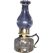 Rare Frank Rhind's Safety Finger Oil Lamp !!! Ca. 1870's.