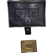 "Pennsylvania Military College Cadet ""Belt Buckle & Ammo Pouch"" Circa 1880's !!!"