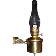 "Authentic Railroad Parlor ""Wall Bracket Oil Lamp"" Circa 1890 !!!"