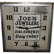 """Joe's Jewelers"" Electric Advertising Clock ! Circa 1940's."