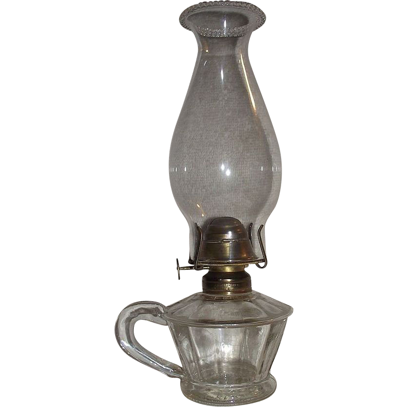 "Rare ""Atterbury"" Dated 1868 Finger Lamp !!!"