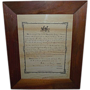 Pre Civil War Militia Discharge for Jonathan Reber, Dated July 4th, 1856  !!!