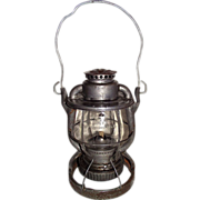 "Weighted ""Reading Company Locomotive Dept."" Railroad Lantern with Earlier ""P & R"" Globe !!!"
