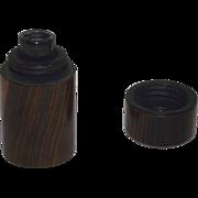 "Civil War Period ""Rosewood Traveler's Ink Bottle"" with internal Blown Glass insert !!!"