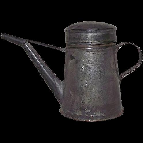 Primitive 19th Century Tin Oil Lamp Filler Circa 1850 !!!