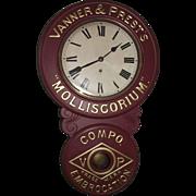 """Vanner & Prest's * Molliscorium * Compo Embrocation Trade Mark"" Advertising Clock Circa  1905 to 1910 !!!"