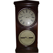 "Rare Seth Thomas ""Office # 2 Regulator & Calendar""  with 14 inch Dials & Rosewood Veneer Case !!! Circa 1870's."