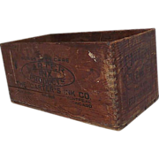 """Carter's Ink"" Wood Shipping Crate Circa 1909  !"