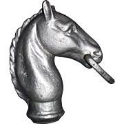"""Authentic """"Horse Head"""" for Hitching Post made of cast Iron Circa 1900 !!!"""