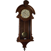 "New Haven Clock Co.  ""CAMBRIA Time"" Model Wall Regulator in the more desirable Walnut Case Circa 1880 !!!"