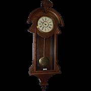 "New Haven Clock Co.  ""CAMBRIA Time"" Model Wall Regulator in the more desirable Walnut Case Circa 1880 !!!"