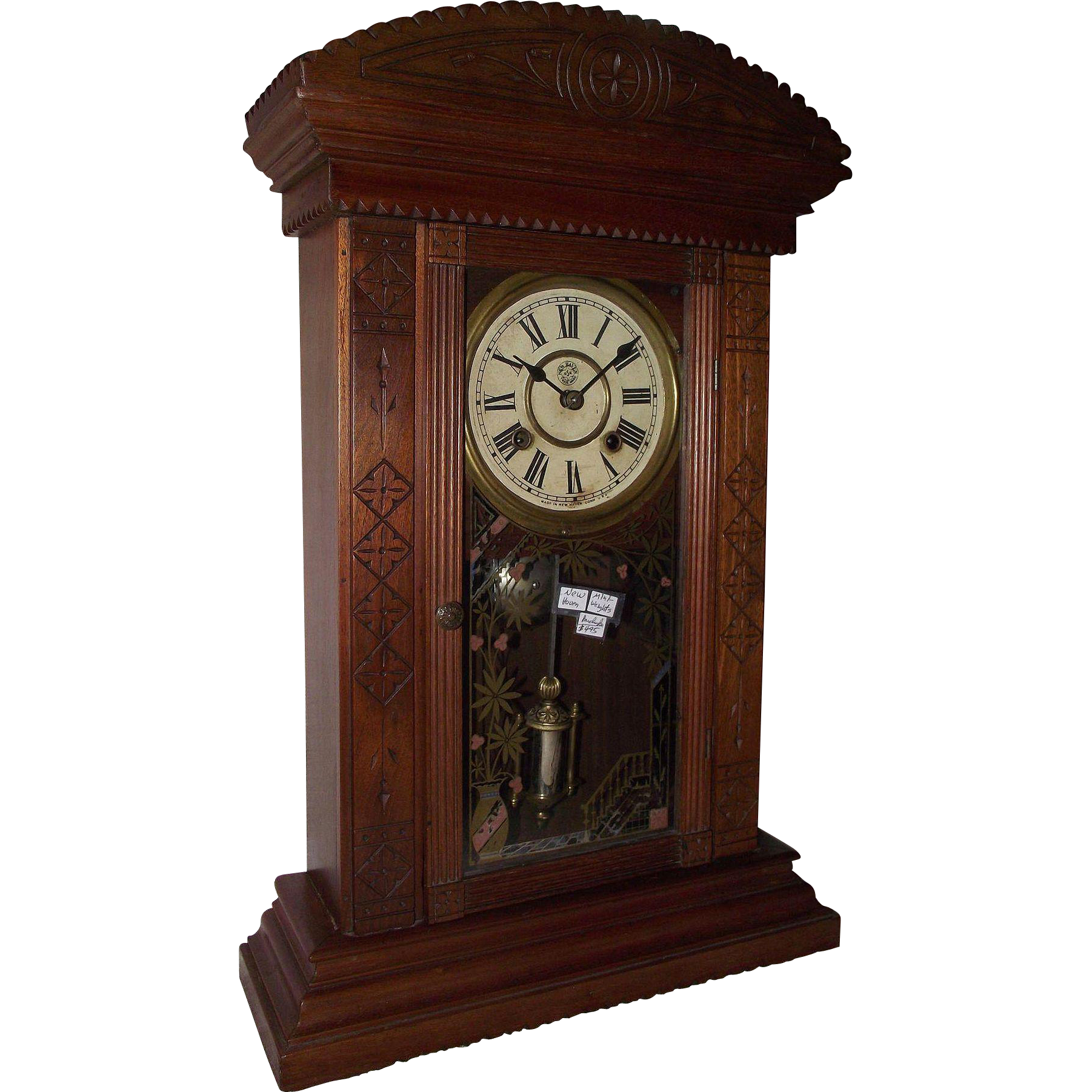 "Rare Smallest Weight Driven New Haven ""Ganges"" Model Shelf Clock !!! Circa 1881."