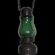 "Rare Green Globe in a ""Jewel"" marked Skater's Lantern !!!"