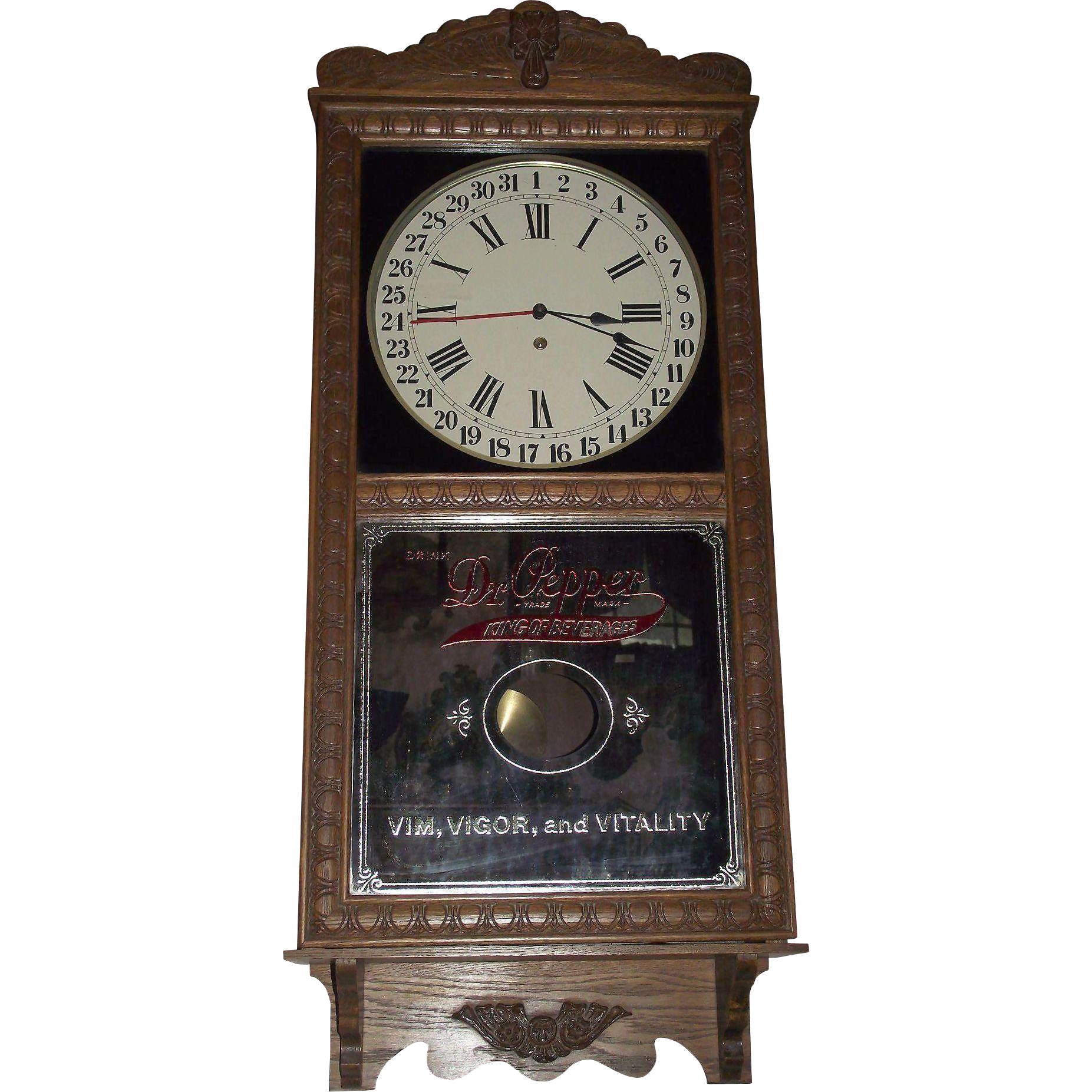 Near Mint Quot Dr Pepper Quot Store Advertiser Clock With